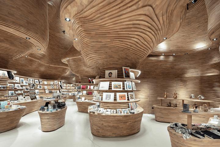 Koichi Takada Architectsがカタール国立博物館のショップをデザイン 4万個のピースで構成された自然へ回…