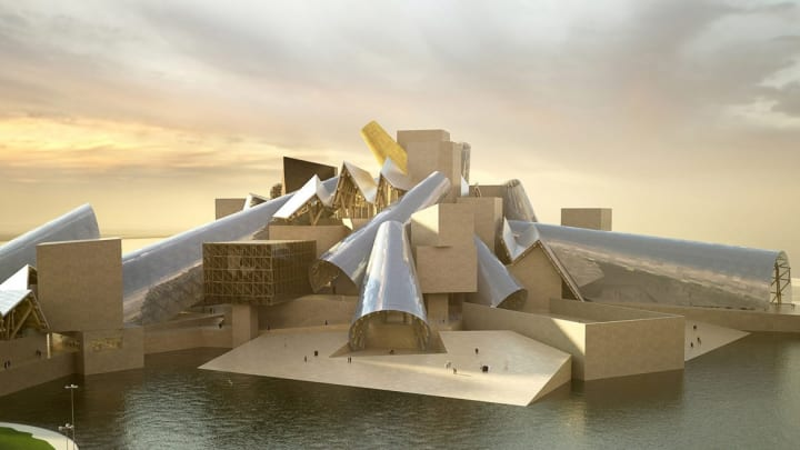 フランク・ゲーリー設計のグッゲンハイム・アブダビ 現代アーティストのための広大で斬新なレイアウト