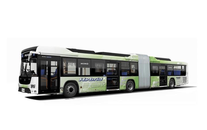 いすゞ自動車と日野自動車 国産初のハイブリッド連節バスを共同で開発