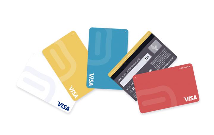 表側にカード番号のないVisaカードが日本初登場 カンムのプリペイドカード「バンドルカード」の新デザイン