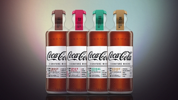 英コカ・コーラから4種類の「Signature Mixers」が登場 デザインは1894年に初登場したボトルを採用