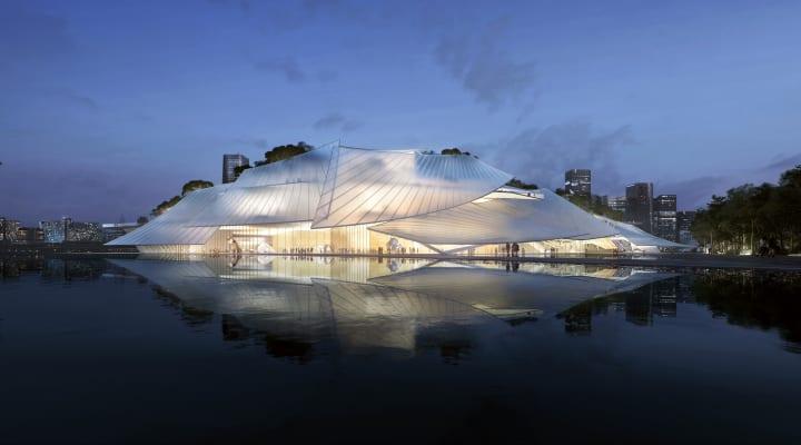 浙江省で建設予定の「Yiwu Grand Theater」 中国の帆船を彷彿とさせるMAD Architectsの設計案