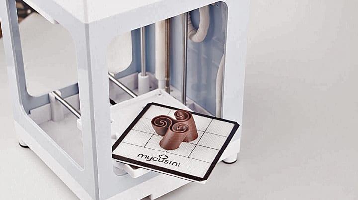 チョコレートの3Dプリンターが進化。年内出荷予定の「マイカシーニ」
