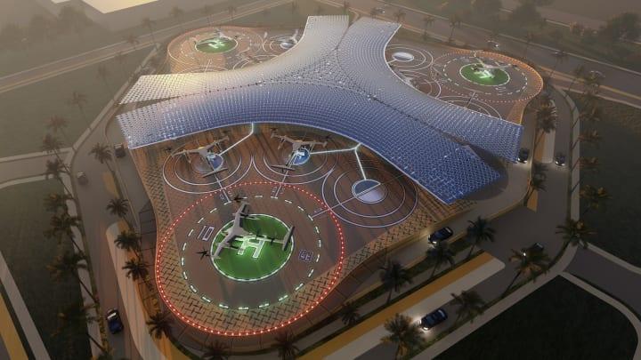 空中タクシーサービス「Uber AIR」の事業展開に向け SHoP Architectsが「スカイポート」のデザイン案を公開