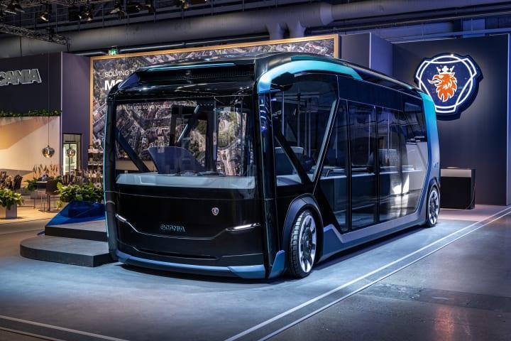 スカニアが都市型自動走行コンセプトEV「NXT」を発表 配送やゴミ収集もできるモジュール式のバス