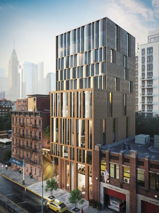 ニューヨークの建築プロジェクト「The Snail Apartments」オールド・ニューヨークの住宅と現代の高層ビルを融合