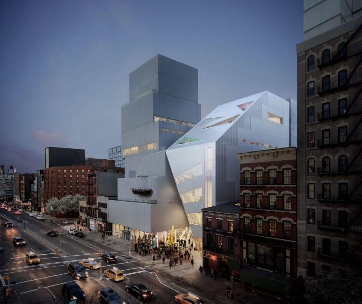 マンハッタンの美術館 「ニュー・ミュージアム・オブ・コンテンポラリー・アート」 新館の設計案をOMAが公開