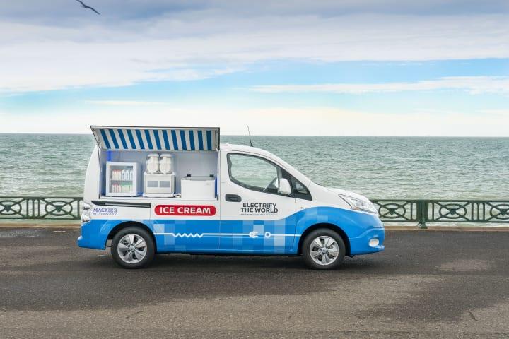 日産とアイスクリームメーカーが提携 販売用バンをEV化して炭素依存度を低減