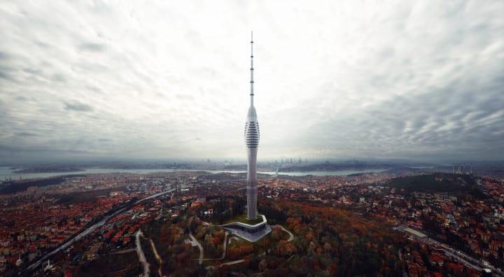 イスタンブールの未来を予感させる新しいテレビ塔 高さ369mの「ISTANBUL CAMLICA TV AND RADIO TOWER」