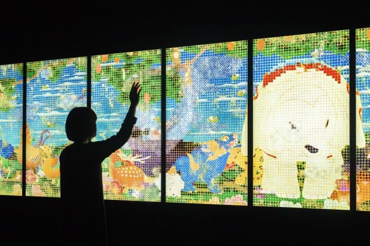チームラボがナショナル・ギャラリー・オブ・アートで開催中 「日本美術に見る動物の姿」展で作品を展示