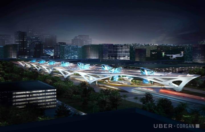 「Uber AIR」の離発着施設「Skyport」のデザイン案 Corganがモジュラーシステム「CONNECT」を公開