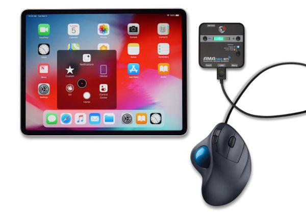 世界初、iPad/iPhoneをアシスティブマウスで操作可能 テクノツールが「AMAneo🄬 Bti」を発売