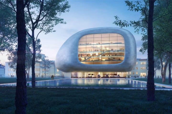 チェコ・オストラヴァの新しいコンサートホール 作曲家 ヤナーチェクの音楽理論に着想を得た建築