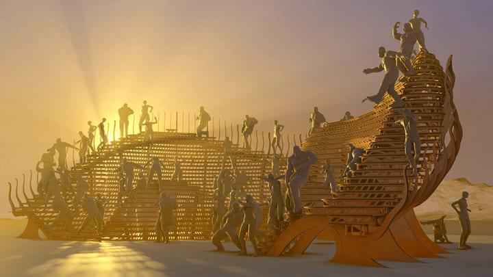 米ネバダ州の大規模イベント「Burning Man 2019」 建設予定の没入型パフォーマンスエリア「PlayaScape」