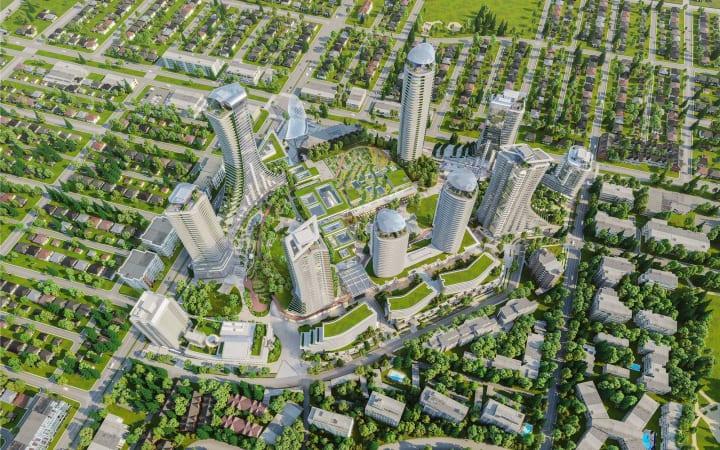 バンクーバーで大規模な再開発事業がスタート 既存の郊外型ショッピングモールを文化と市民の中心地に