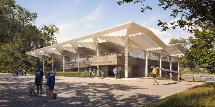 ニューヨーク・ハーレム川のユニークな教育機関「Row New York」 新しいボートハウスをFoster + Partners…