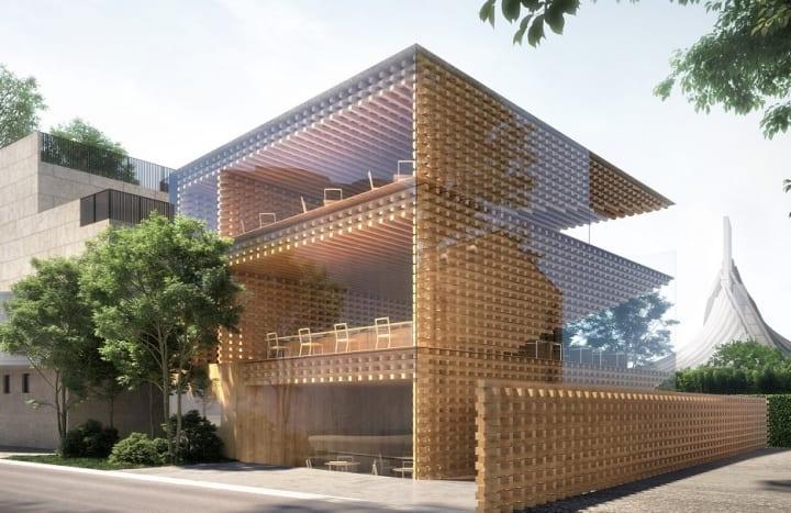 日本アロマ環境協会の新しい拠点施設 設計監修は建築家 隈研吾が担当