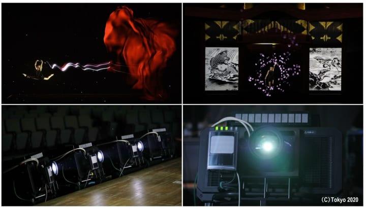 パナソニックがオリンピック1年前セレモニーで プロジェクターを用いた高速追従プロジェクションマッピン…