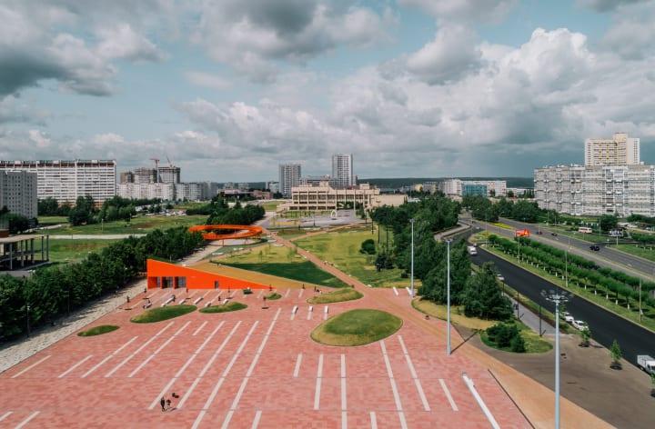 ソビエト時代の遺物を多目的の広場に DROMが手がけるプロジェクト「AZATLYK SQUARE」