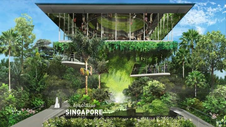 ドバイ国際博覧会のシンガポール館 建築設計事務所 WOHAによるデザイン案が公開