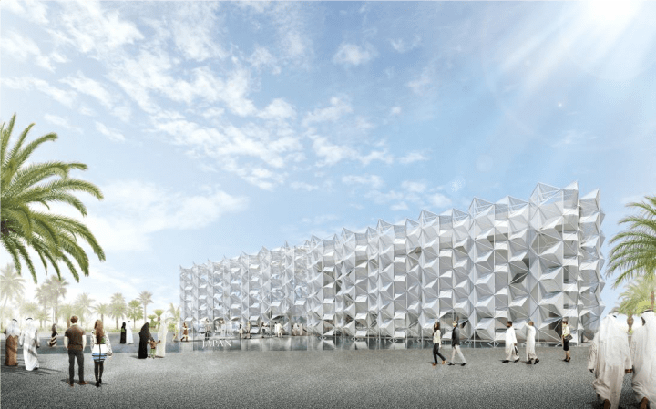 2020年ドバイ国際博覧会 日本館の起工式を挙行 永山祐子建築設計とNTTファシリティーズが設計を担当