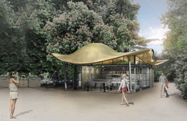 ロンドン・ハイドパークに新しい施設が登場 Mizzi Studioがデザインする「Serpentine Coffee House」