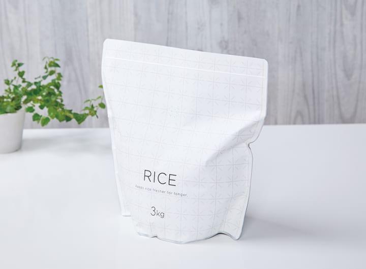 マーナからお米のプロと共同で企画した「極お米保存袋」が登場 光と空気を遮断して鮮度保持を実現