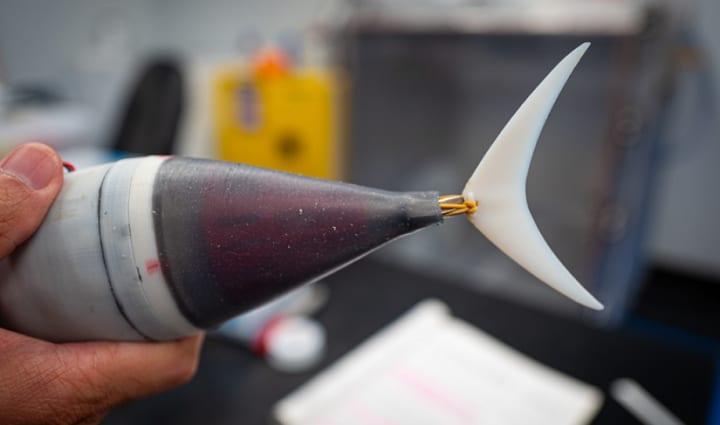 バージニア大学の研究チームがロボット魚「Tunabot」を開発 「キハダマグロ」のスピードや動きをイメージ