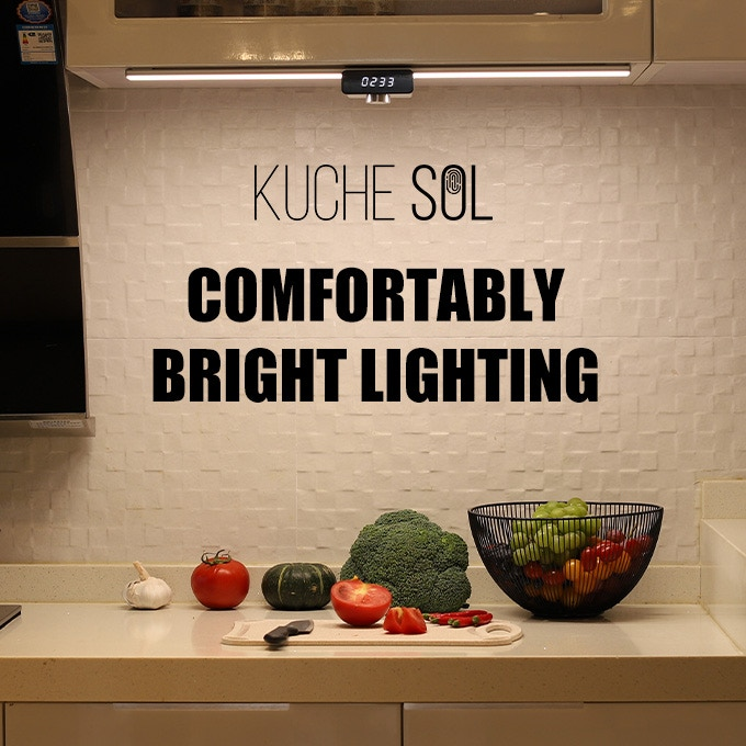 センサーに手をかざすだけで調光できる スマートLEDキッチンライト「KUCHE SOL」
