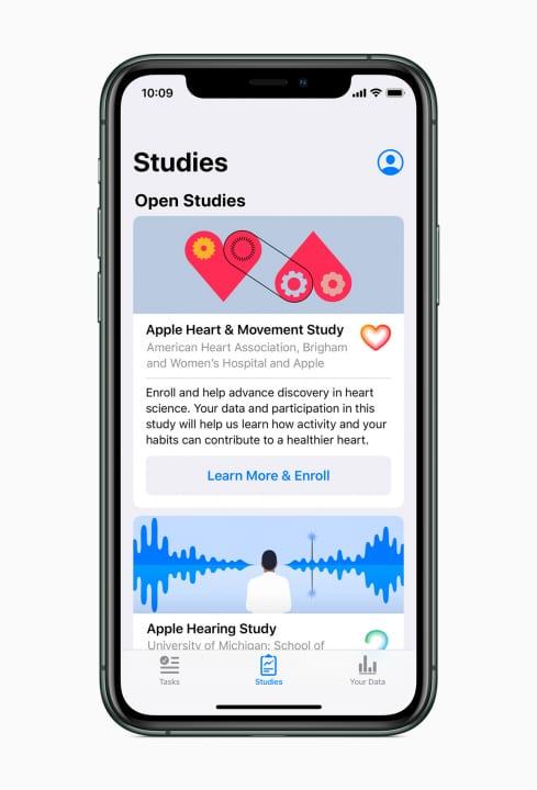 Appleが健康に関する3つの革新的な研究分野を発表 かつてない規模の幅広い被験者にアプローチ