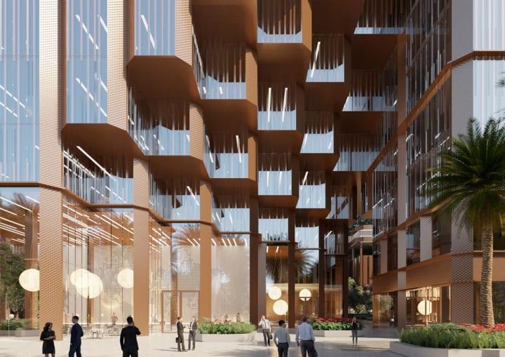 深圳の複合施設「Konka mixed-use」 中国の小規模な町の都市構造にヒントを得た構成案