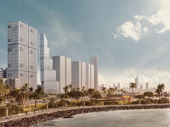 クウェートシティの新しいレジデンシャルタワー「Wafra Tower」 5つのブロックを積み重ねたOMAによるデザ…