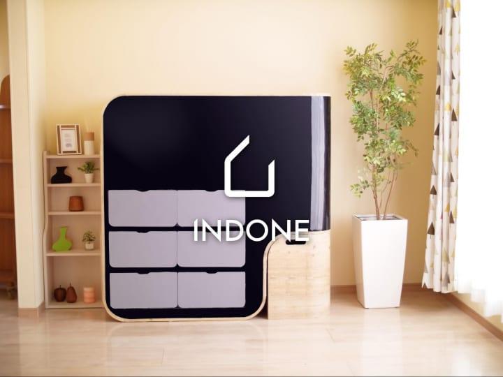 衣類をやさしく折りたたみ収納する家具「INDONE」 機能改良モデルをCEATEC 2019に出展