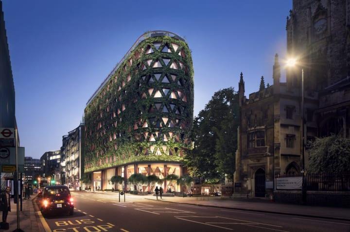 ヨーロッパ最大級のグリーンウォールを備えた ロンドンのホテル「Citicape House hotel」の設計案が公開