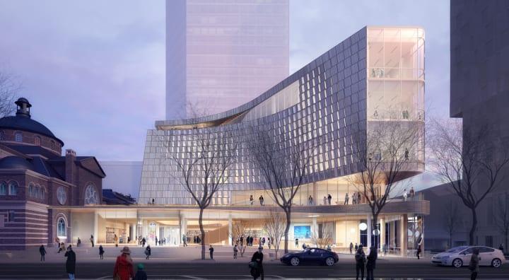 スノヘッタが手がける米シャーロットの新しい図書館本館 街の歴史を尊重して「尾根」をイメージしたデザイン