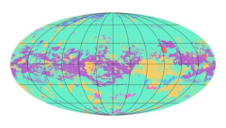 土星の衛星「タイタン」の地図が初公開 そのダイナミックな地形が明らかに