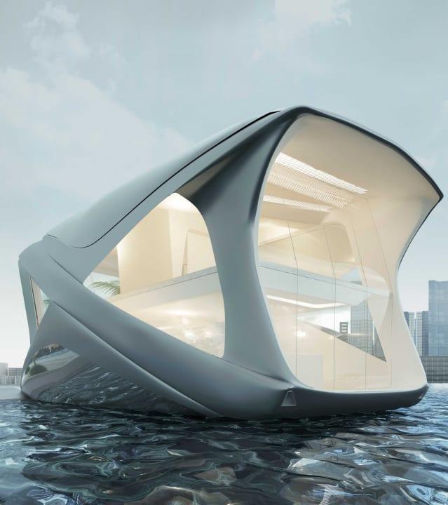 Wojciech Morsztynが提案する家庭向け船舶ユニット 海上を居住スペースにする「Ocean Community」