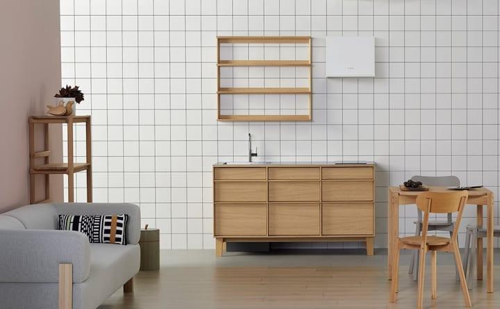 Karimoku New Standardがサンワカンパニーが共同開発 「KNSコンパクトキッチン」の販売が開始