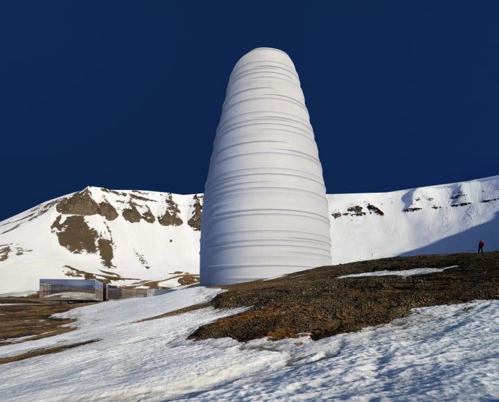 スノヘッタがノルウェー・スヴァールバル諸島で手がける 永久凍土の保管施設のためのビジターセンター「Th…