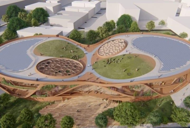 ハンブルクに2023年オープンの複合施設「LIFE HAMBURG」 自然の5つの要素にインスパイアされたデザイン