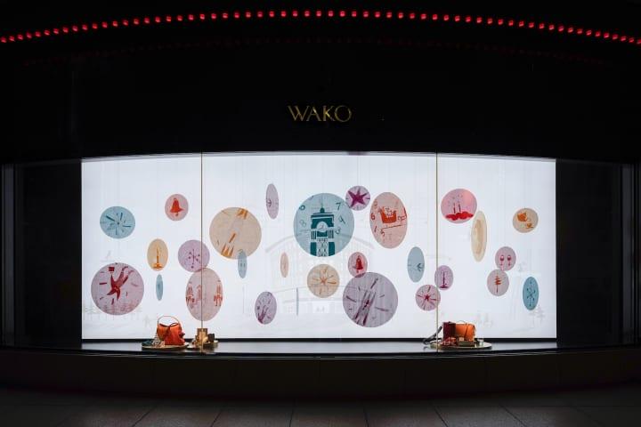 銀座・和光が2019年クリスマスシーズンのディスプレイを展開中 スズキユウリとコラボした「訪」-Visit Pla…