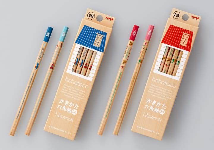 北欧テイストの三菱鉛筆「hahatoco」シリーズから ナチュラルで新しい軸デザインの鉛筆が登場