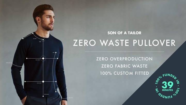 無駄を徹底的に排除して衣料品の廃棄物を減らす 「ZERO WASTE PULLOVER」が登場
