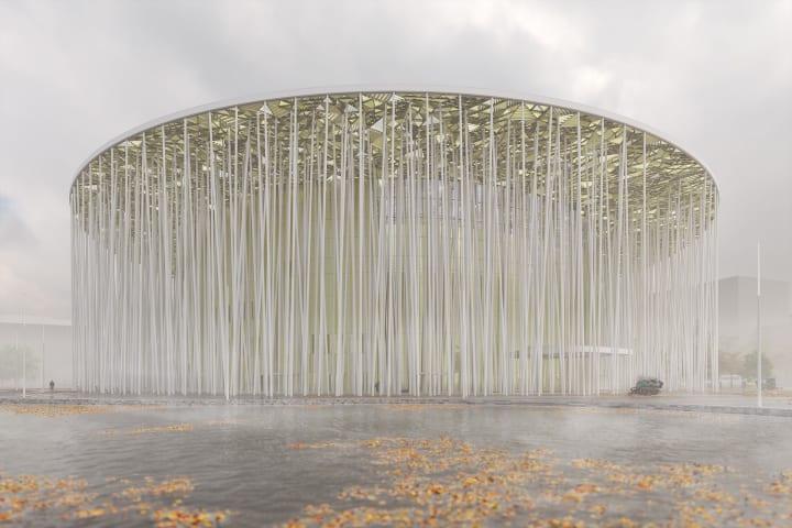 中国最大の竹林にインスパイアされた劇場 Steven Chilton Architectsによる「Wuxi Taihu Show Theatre」