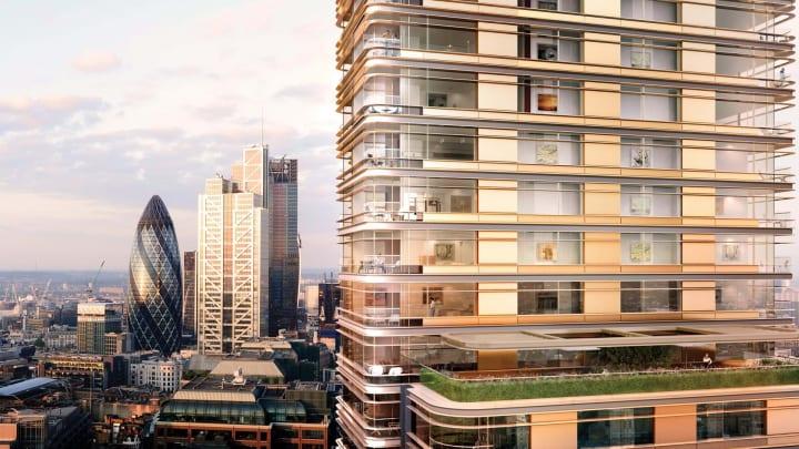 ロンドンの新しい複合施設のランドマーク「Principal Tower」 Foster + Partnersがイーストエンドと金融セ…
