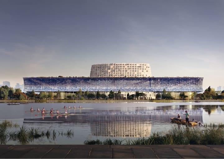 中国・京杭大運河の歴史と文化を反映した ヘルツォーク&ド・ムーロンの「Grand Canal Museum Complex」