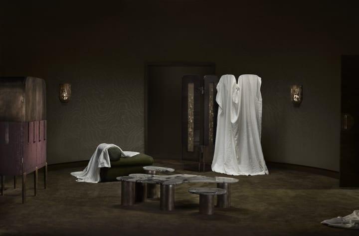 照明ブランド「Apparatus」の家具コレクション モダニズムのコンサートホールをイメージした「Interlude」