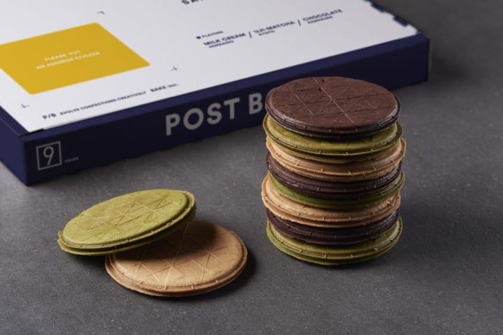 ポストに投函できるユニークな形状の新ギフト菓子 BAKEが手がける「POSTBOX SAND COOKIE」がローンチ
