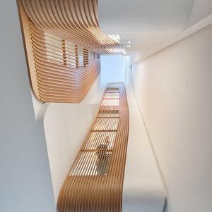 彫刻的なデザインで光が差し込む ビクトリア朝のテラスハウス「LIGHT FALLS」