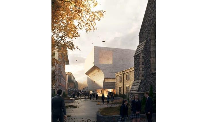 英ブライトン大学のパフォーミングアートの複合施設 krftの建築設計案「PAC Brighton College」